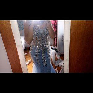 Blue beautiful prom dress:)